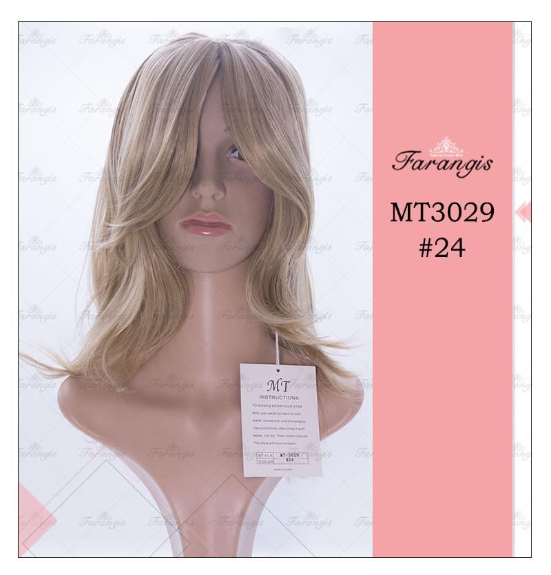 کلاه گیس زنانه بلوند مدل MT کد 24