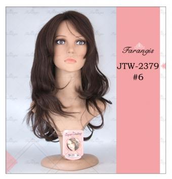 کلاه گیس زنانه قهوه ای مدل JTW کد 6