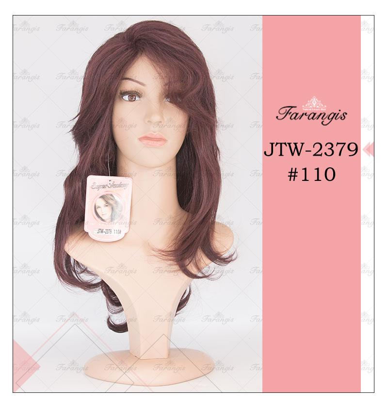 کلاه گیس زنانه قهوه ای روشن مدل JTM کد110