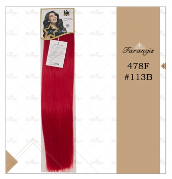 مو متری فانتزی قرمز برند 478F کد 113b