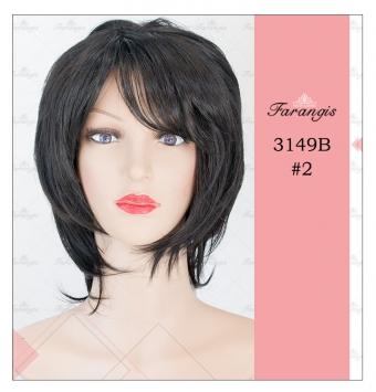 کلاه گیس زنانه مشکی مدل 3149B کد 2