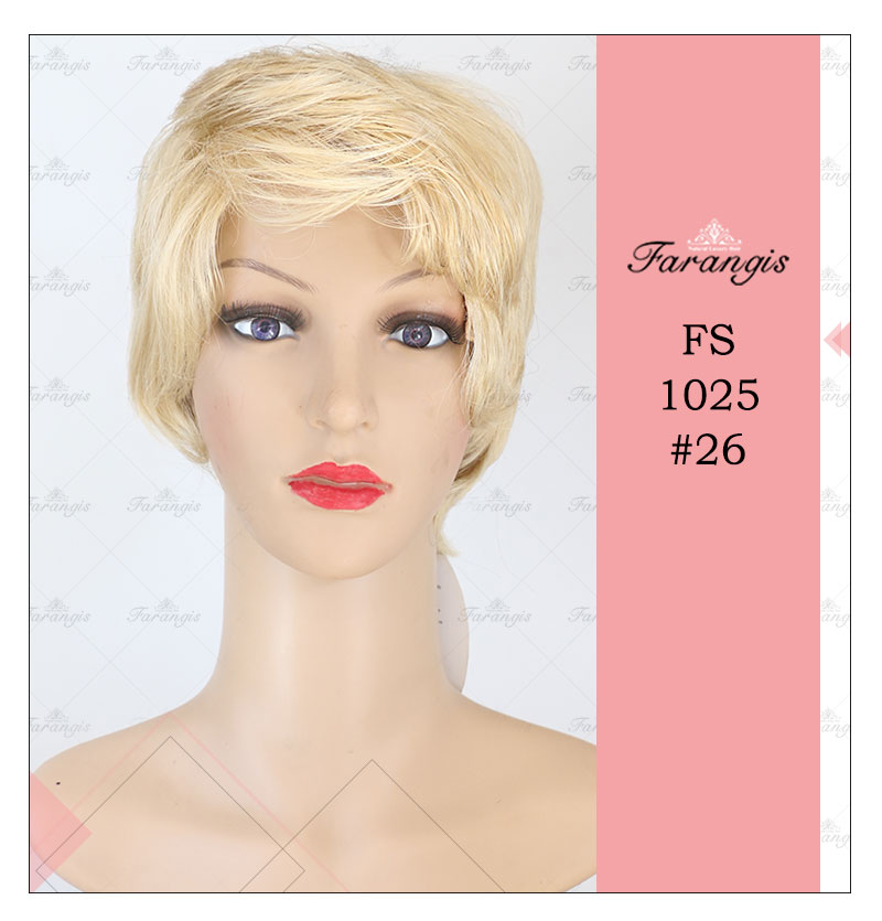کلاه گیس زنانه بلوند مدل FS1025 کد 26