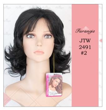 کلاه گیس زنانه مشکی مدل gtw2491 کد 2