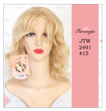 کلاه گیس زنانه بلوند مدل jtw2491 کد 15