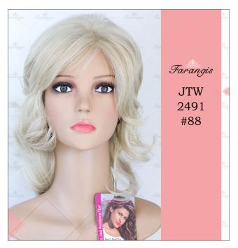 کلاه گیس زنانه بلوند دودی مدل JTW2491 کد 88