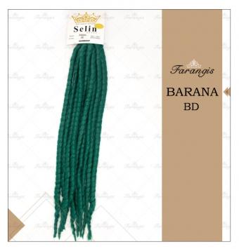 مو دردلاک سبز خزه ای مدل BARANA کد BD