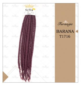 مو دردلاک بادمجونی مدل BARANA کد T1716