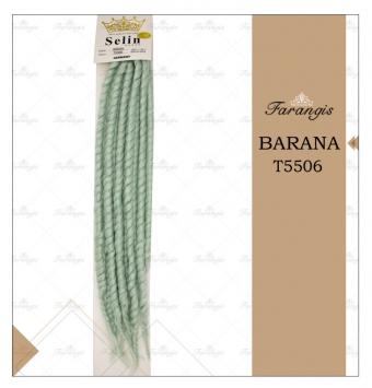 مو دردلاک سبز زیتونی مدل BARANA کد T5506