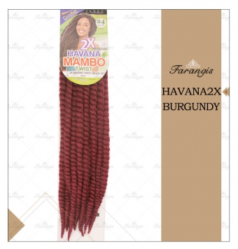 مو دردلاک جگری مدل HAVANA2X کد BURGUNDY