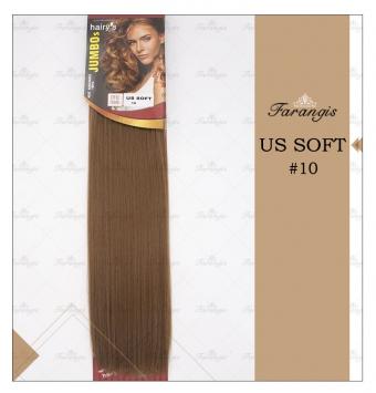 مو متری قهوه ای زیتونی روشن مدل US SOFT کد 10