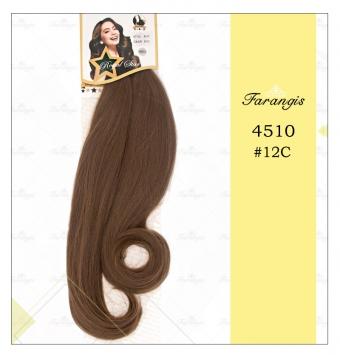 مو دو سر باز قهوه ای عسلی متوسط مدل 4510 کد 12C