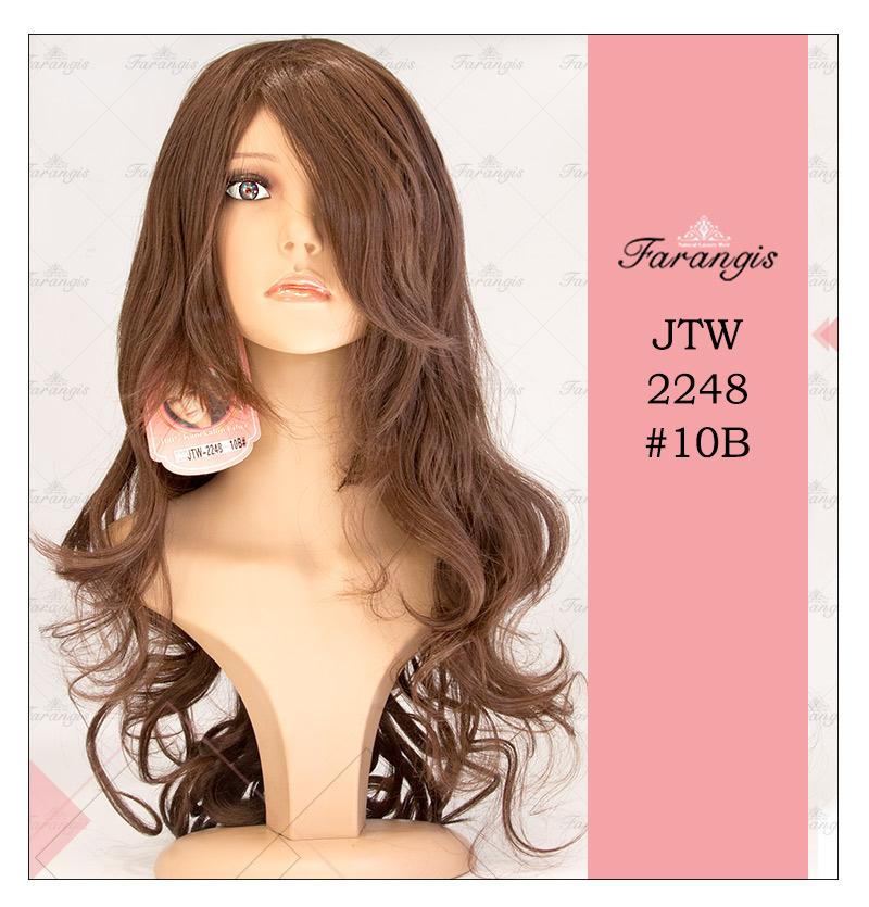کلاه گیس زنانه قهوه ای بلوطی روشن مدل JTW-2248 کد 10B