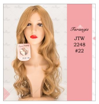 کلاه گیس زنانه کنفی کاراملی مدل JTW-2248 کد 22