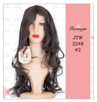 کلاه گیس زنانه مشکی مدل JTW-2248 کد 2