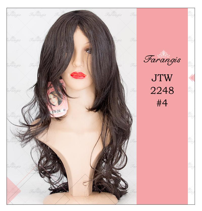 کلاه گیس زنانه مشکی طبیعی مدل JTW-2248 کد 4