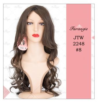 کلاه گیس زنانه قهوه ای زیتونی مدل JTW-2248 کد 8