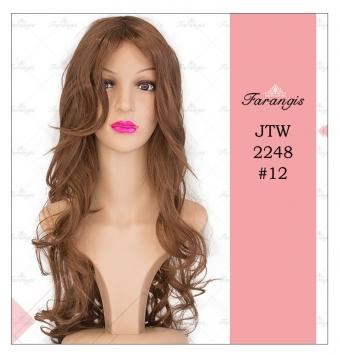 کلاه گیس زنانه عسلی قهوه ای مدل JTW-2248 کد 12