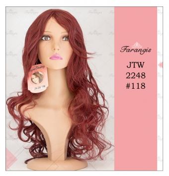 کلاه گیس زنانه شرابی روشن مدل JTW-2248 کد 118