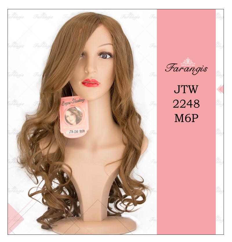 کلاه گیس زنانه  قهوه ای مدل JTW-2248 کد M6P