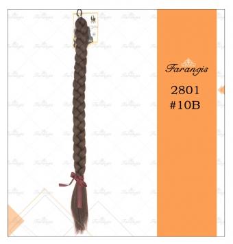 موی دم اسبی بافت قهوه ای بلوطی روشن مدل 2801 کد 10b