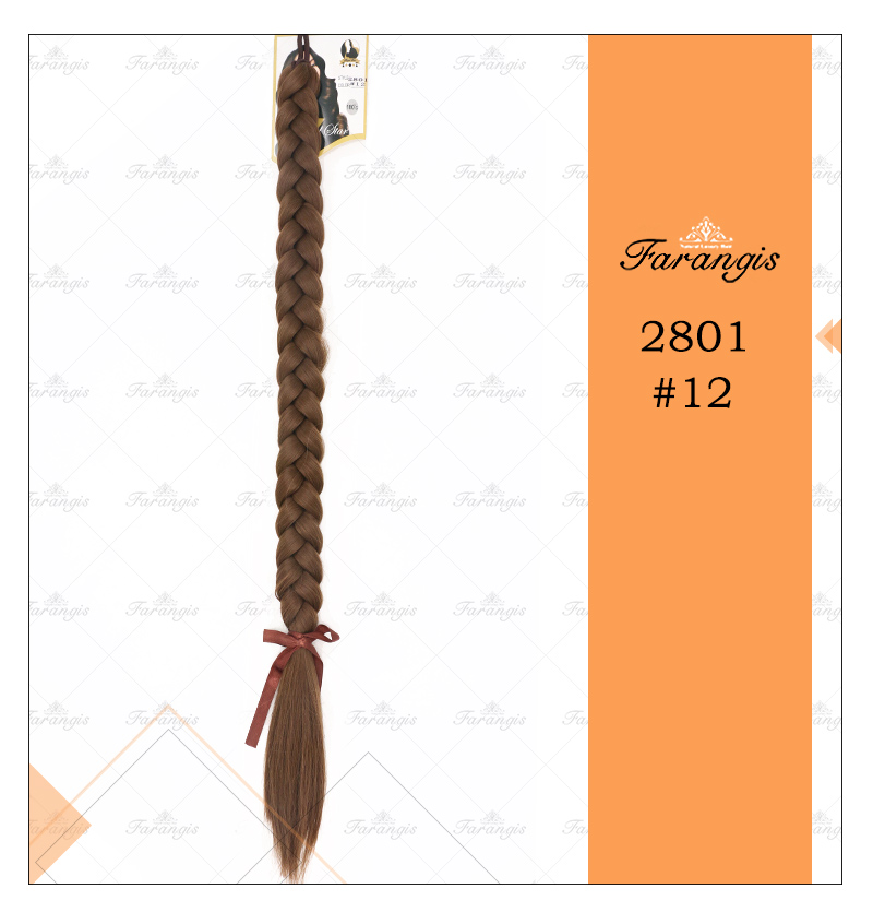 موی دم اسبی بافت عسلی قهوه ای مدل 2801 کد 12