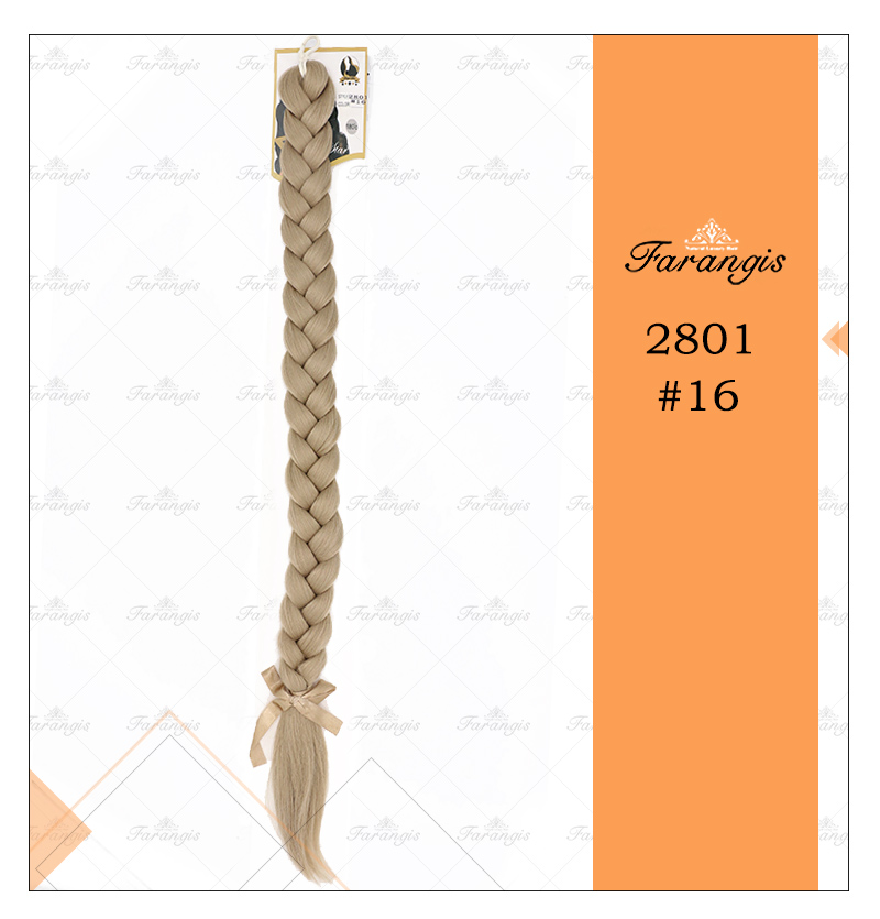 موی دم اسبی بافت بلوند دودی روشن مدل 2801 کد 16