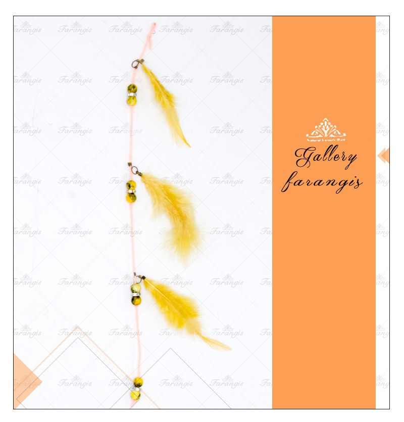 آویز مو پر مصنوعی زرد