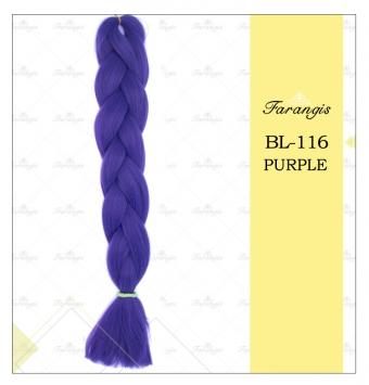 مو دوسر باز وز آفریقایی بنفش مدل ultra braid کد purple
