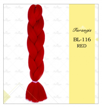 مو دوسر باز وز آفریقایی قرمز مدل ultra braid کد red