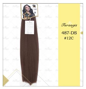 مو دوسر باز قهوه ای عسلی متوسط مدل 487DS کد 12C