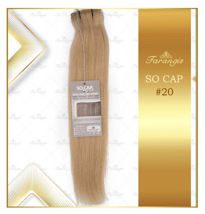 مو طبیعی اکستنشن بلوند کد 20