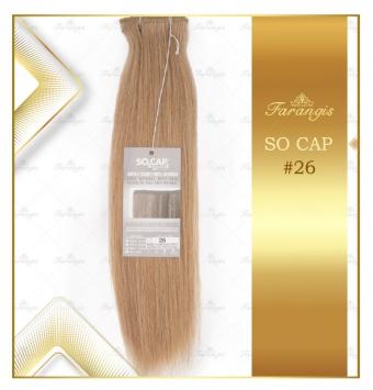 مو طبیعی اکستنشن عسلی بلوند کد 26