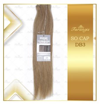 مو طبیعی قهوه ای  کد DB3