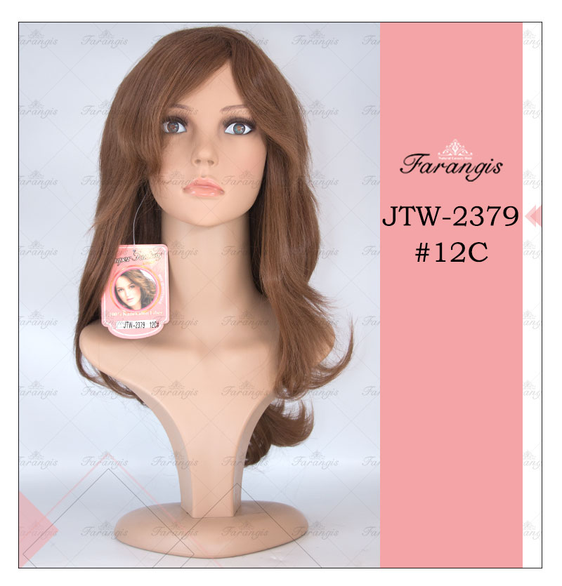 کلاه گیس زنانه قهوه ای روشن مدل JTM کد 12C