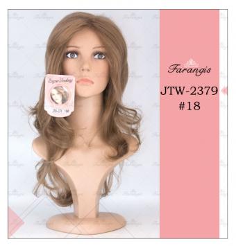 کلاه گیس زنانه قهوه ای مدل JTW کد 18
