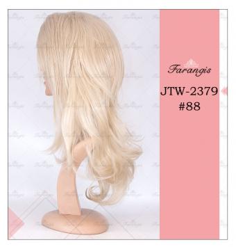کلاه گیس زنانه بلوند مدل JTW کد 88