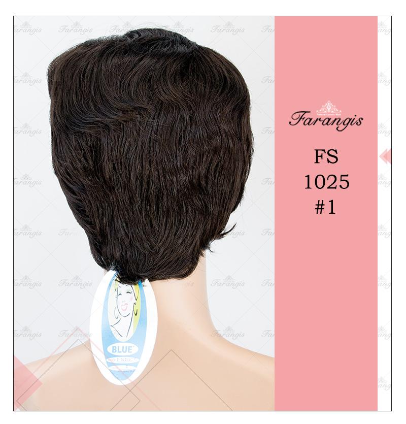 کلاه گیس زنانه مشکی مدل FS1025 کد 1