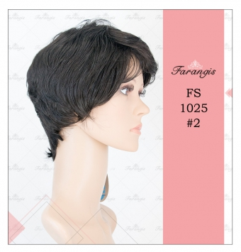 کلاه گیس زنانه مشکی مدل FS1025 کد 2