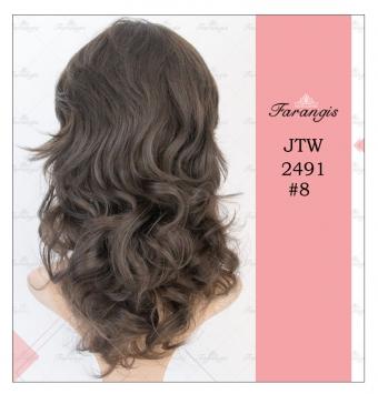 کلاه گیس زنانه قهوه ای مدل JTW 2491 کد 8