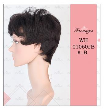 کلاه گیس زنانه مشکی مدل WH01060JB کد 1B