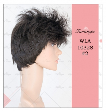 کلاه گیس زنانه مشکی مدل WH01060JB کد 2