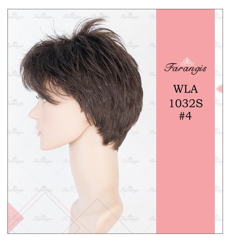 کلاه گیس زنانه قهوه ای تیره مدل WLA1032S کد 4