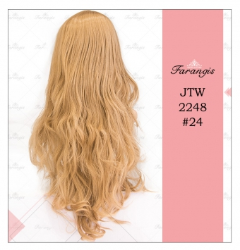 کلاه گیس زنانه دودی زیتونی مدل JTW-2248 کد 24