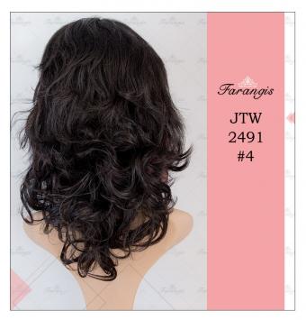 کلاه گیس زنانه مشکی طبیعی مدل JTW2491 کد 4