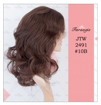 کلاه گیس زنانه قهوه ای بلوطی روشن مدل JTW2491 کد 10B