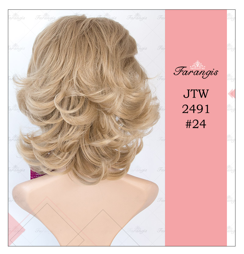 کلاه گیس زنانه دودی زیتونی مدل JTW2491 کد 24